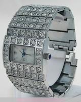 Montre femme acier et 16 rangées de strass watch uhr