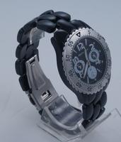 Montre mixte acier laqué noir