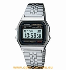 Casio A158WA 593 acier montre unisex vintage collection