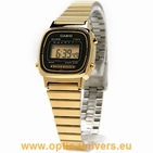 Casio LA670WGA 526 acier doré montre vintage collection