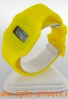 Montre extra plate funny color water resist jaune