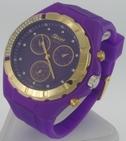 Montre Femme bracelet silicone softouch Dia 4,5 cm mauve